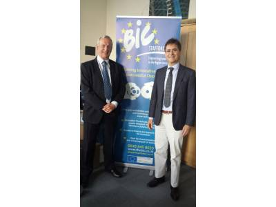 Knowledge transfer in areas of companies' innovation and creation during the visit of Alvaro Simon in the Staffordshire's' BIC