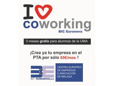 UMA students will have 3 months free in the Coworking area of BIC Euronova