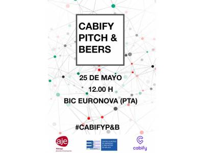 Cabify, pitch & beers: a new way of making professional contacts. 25th May in BIC Euronova