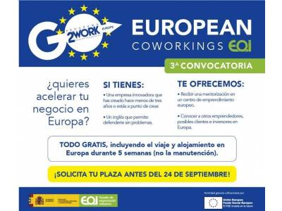 Do you want to accelerate your project in Europe? 3rd Edition European Coworking EOI