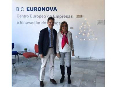The president of the Technological Corporation of Andalusia (CTA), Adelaida de la Calle, visits BIC Euronova