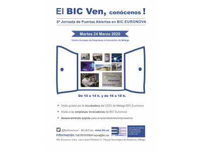 "6th EDITION OF THE OPEN DAY IN BIC EURONOVA, ""THE BIC-BEN, COME AND MEET US!"" THE 12TH MARCH 2018"